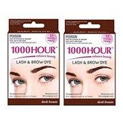 Combo Pack! Kit de coloration des cils et des sourcils / teintes 1000 heures, mascara permanent (brun fonc? et brun fonc?)