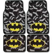 BDK Batman Super Hero Carpet Floor Mats for Car/Truck, 4-Piece Warner Brothers Licensed Products