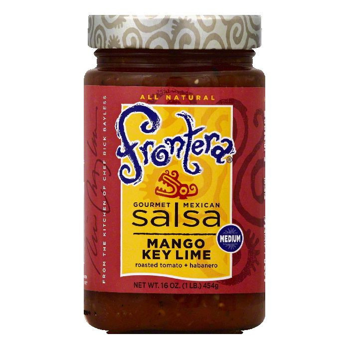 Frontera Medium Mango Key Lime Salsa, 16 OZ (Pack of 6)