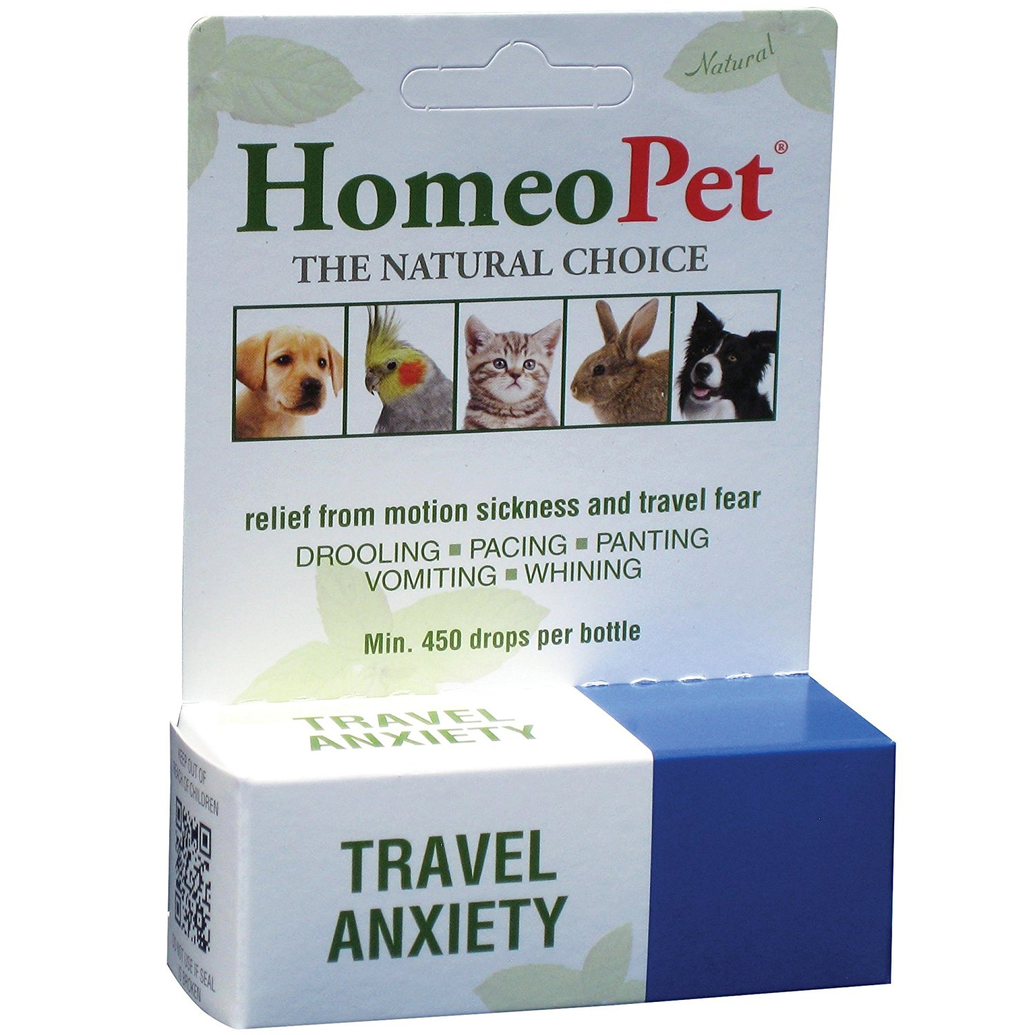 Travel Anxiety Relief Natural Homeopathic Remedy for Pets, Travel Anxiety Drops., by HomeoPet