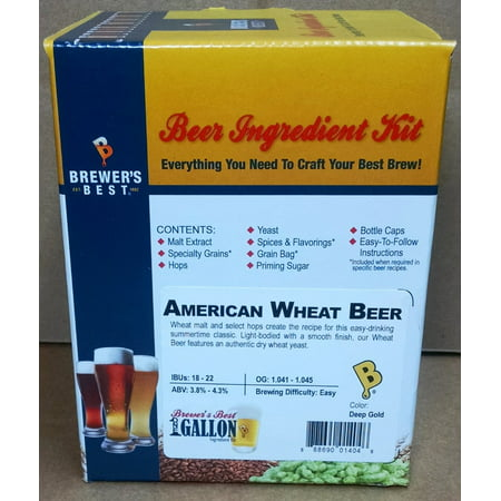 Brewer's Best One Gallon Home Brew Beer Ingredient Kit (American Wheat