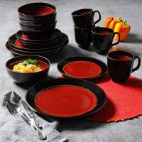 Gibson Studio Villa Mosa 16-Piece Dinnerware Set, Red