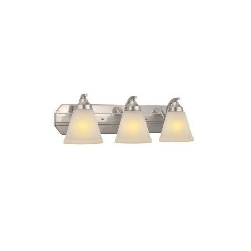 "3 Light Semi Flush Mount Brush 7.5""x24""x7.38 Brushed Nickel By Hampton Bay by"
