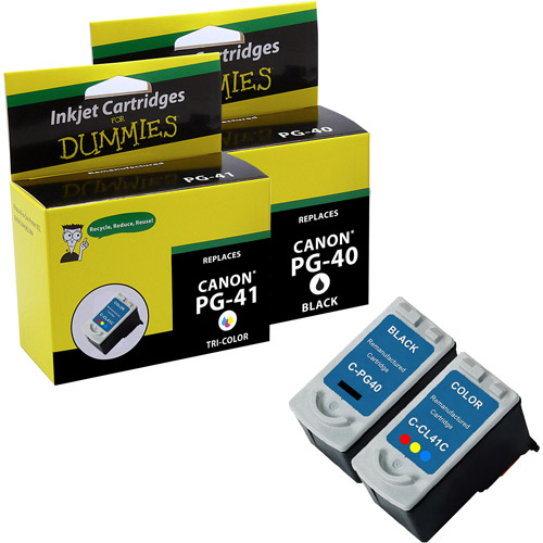 For Dummies Canon PG-40/CL-41 Inkjet Cartridge, 2pk, Remanufactured