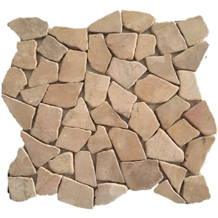 """Rainforest Tan Stone Mosaic Pebble Floor and Wall Tile 12"""" x 12"""" (5.0 sq. ft. / case)"""