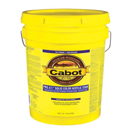 Cabot 800 Self Priming Water Based Solid Color Siding Stain  5 Gal  White Base
