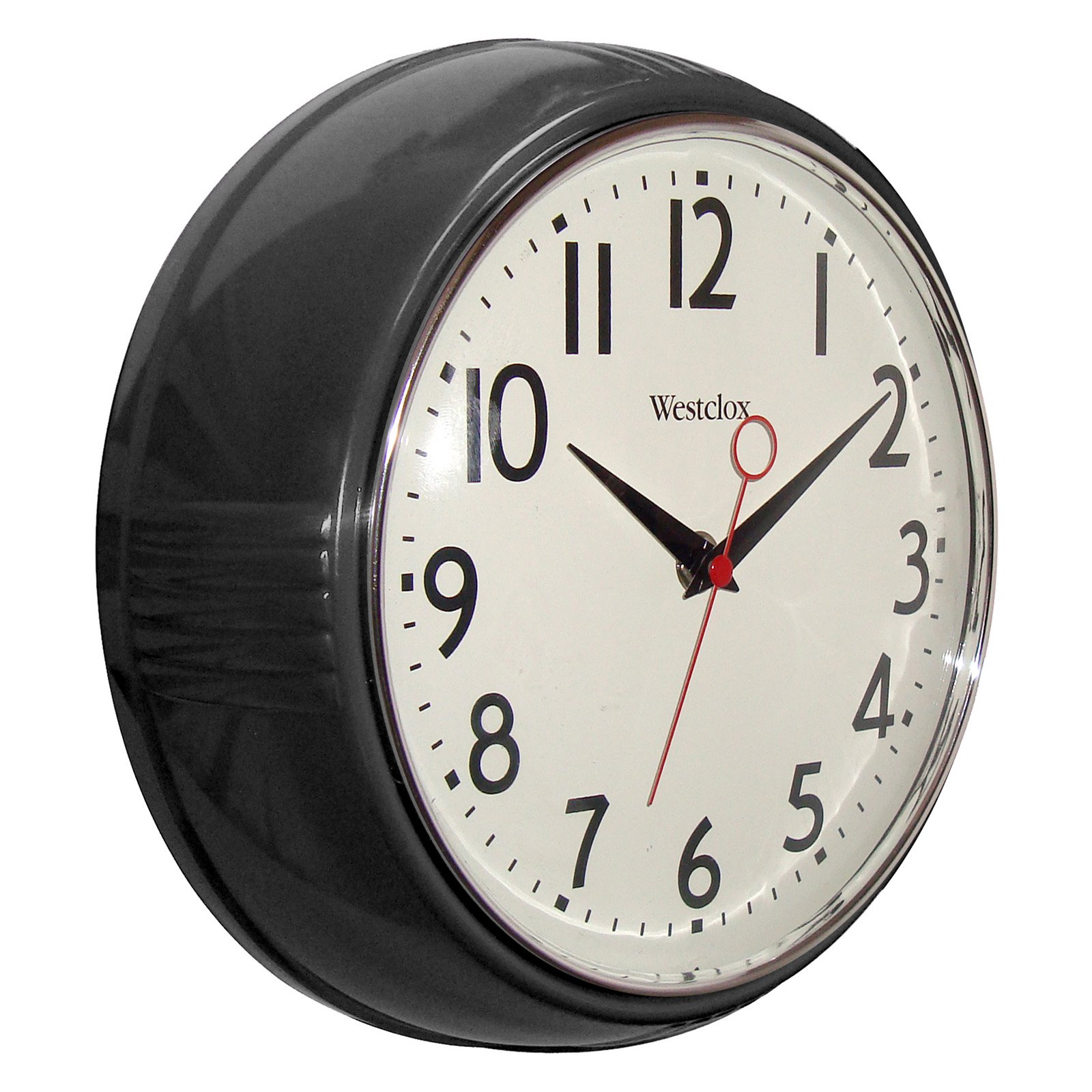 "Westclox 32042R Retro 9.5"" Round Kitchen Wall Clock"