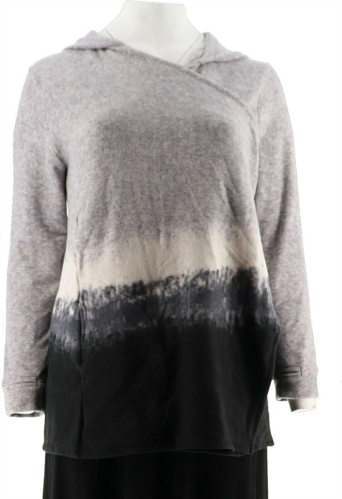 Cuddl Duds Fleecewear Stretch Long Wrap Black Color Size 1X