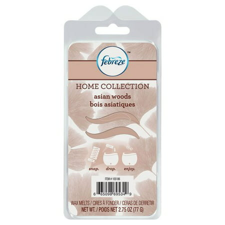 Febreze Home Collection Wax Melts, Asian Woods, 6 Pack