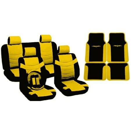 Tremendous Yellow Black Seat Covers Faux Pu Leather Floor Mats Two Tone 4 Headrests For Kia Soul Lamtechconsult Wood Chair Design Ideas Lamtechconsultcom