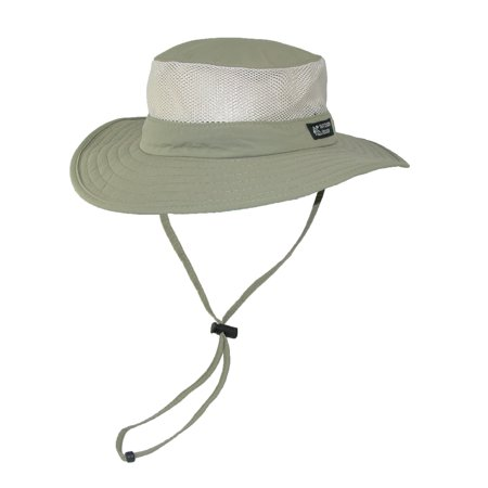 Dorfman Pacific Wide Brim Sun Supplex Hat with Mesh Sides