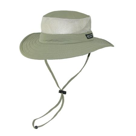 Dorfman Pacific Wide Brim Sun Supplex Hat with Mesh Sides