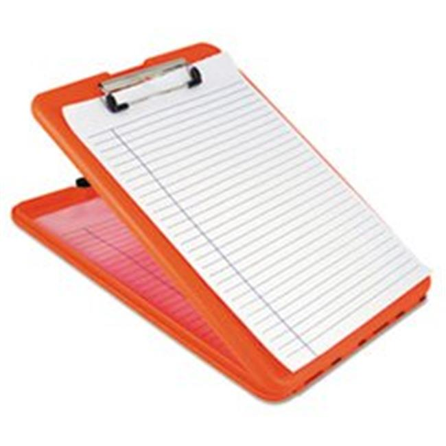 Saunders  SlimMate Storage Clipboard, Safety Orange - 1.5 in.