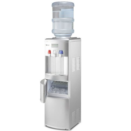 Costway Top Loading Water Dispenser W/ Built-In Ice Maker Machine Hot Cold Room Water