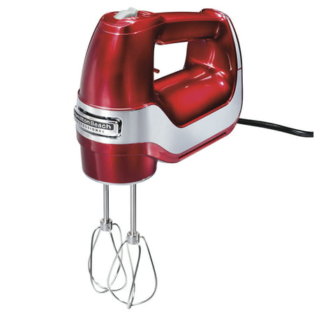 Hamilton Beach Professional 5 Speed Hand Mixer, Red | Model