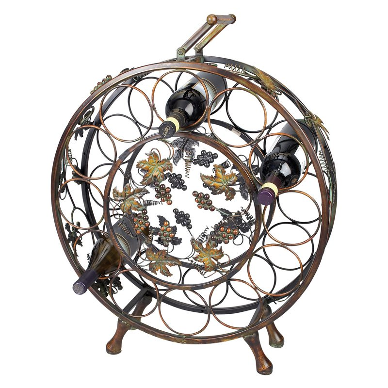 Aspire Home Accents Wine Rack with Grape Vine