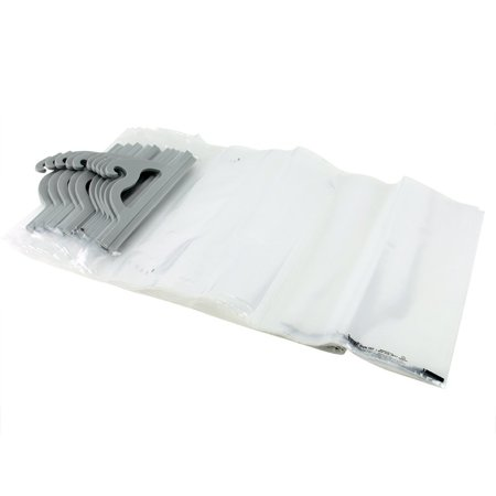 14 x 21 in. Portable Deluxe Hang Up Bag - Clear, Pack 10, Snap together handles for added security By Monaco Ship from US