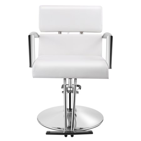 Amazing Baasha White Salon Chair For Hair Stylist Hydraulic Salon Bralicious Painted Fabric Chair Ideas Braliciousco