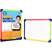"""Scribbledo Dry Erase Board 9""""X12""""  Interactive Learning Whiteboard Single Sided Magnetic White Board for Kids and Students."""