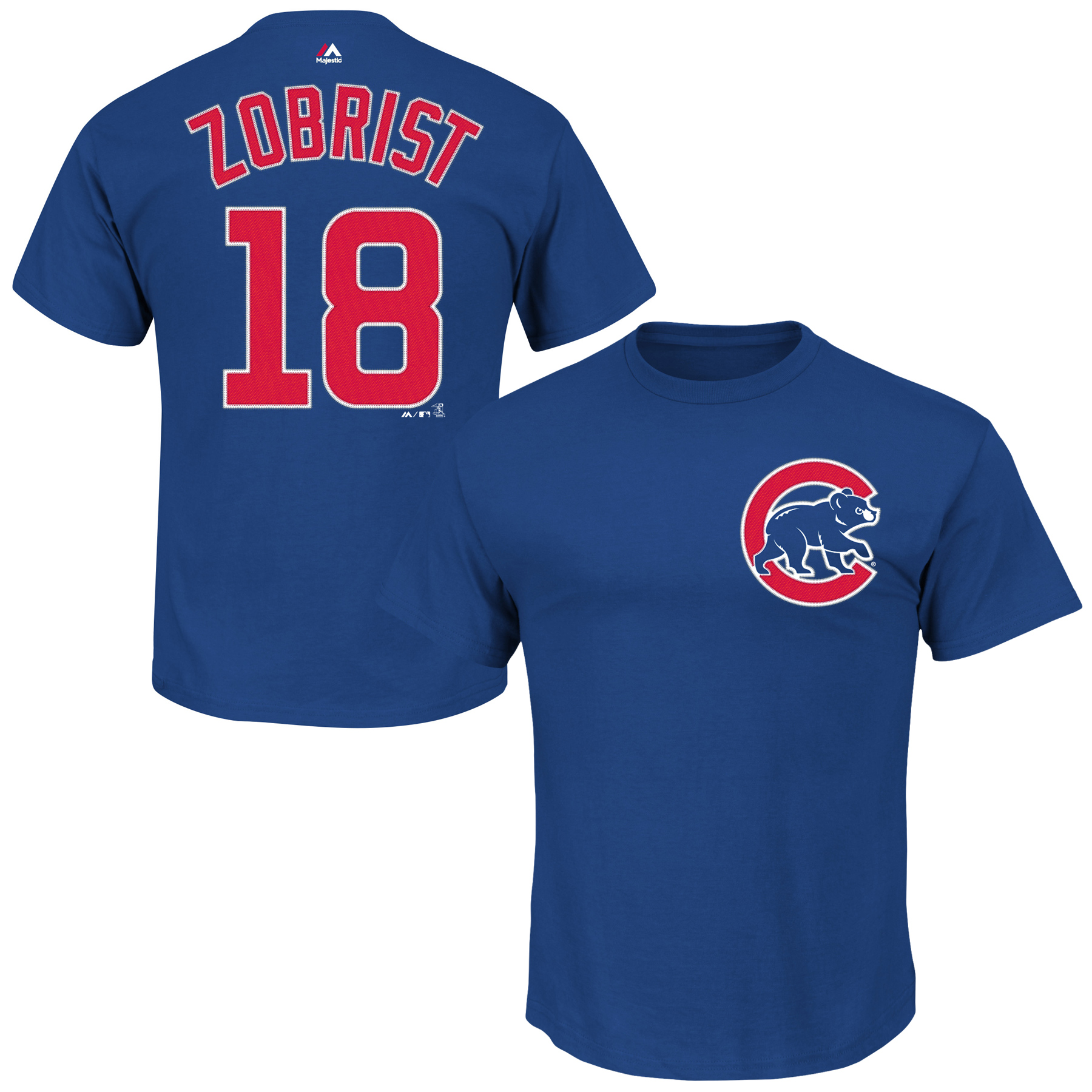 Ben Zobrist Chicago Cubs Majestic Official Name & Number T-Shirt - Royal