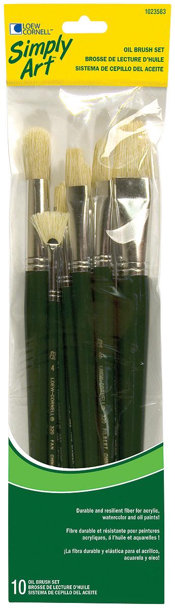 Simply Art Natural Hair Brush Set 10//pkg