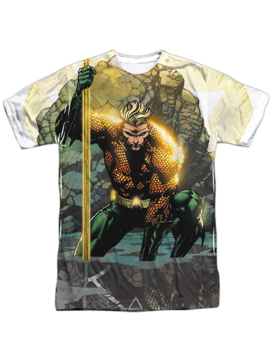 Justice League Movie Aquaman DC Comics Licensed Adult T Shirt