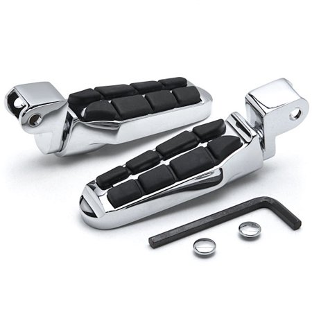 Krator Tombstone Motorcycle Foot Peg Footrests Chrome L&R For Honda 1100 Shadow Ace 1995-1996 Front - Tombstones For Sale