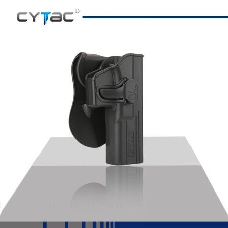Glock Trigger (CYTAC GLOCK Paddle Holster with Trigger Release 360 degree Adjustable Cant, Polymer Holster Injection Molded for GLOCK 17, 22, 31 OWB Carry, RH | 7 attachment options )