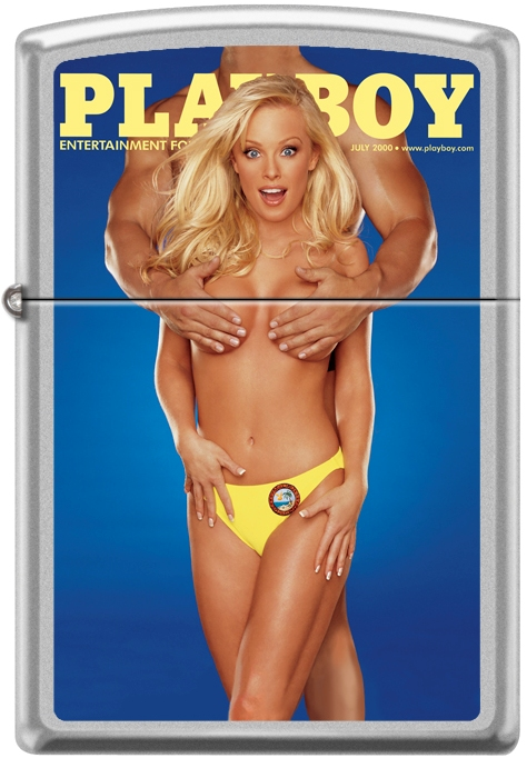 Zippo Playboy July 2000 Cover Satin Chrome Windproof Lighter NEW RARE