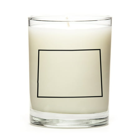 Custom Gift with the Map Outline of Colorado - U.S State! Make your Gift Special with our Premium Custom Candles, Soy Wax, Low Smoke, Even Burn, Luna Candle Co. - Lemon - Custom Candles