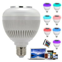 Supersellers E27 RGB Light Bulb, Bluetooth Wireless Control Bulb for iOS Android, LED Smart Wireless Music Change Colors