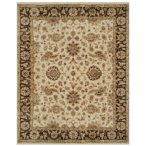 Astoria Grand Barley Hand-Knotted Wool Ivory Area Rug