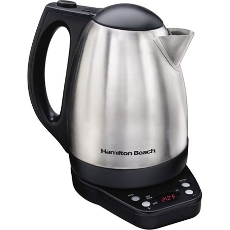 Hamilton Beach Programmable Electric Kettle, Stainless Steel