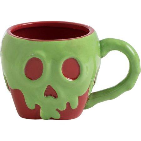 Vandor LLC Disney Snow Poison Apple Sculpted Coffee Mug