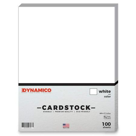 White Cardstock Paper – 8 1/2 x 11