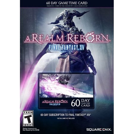 Square Enix Final Fantasy XIV: A Realm Reborn 60 Day Time Card