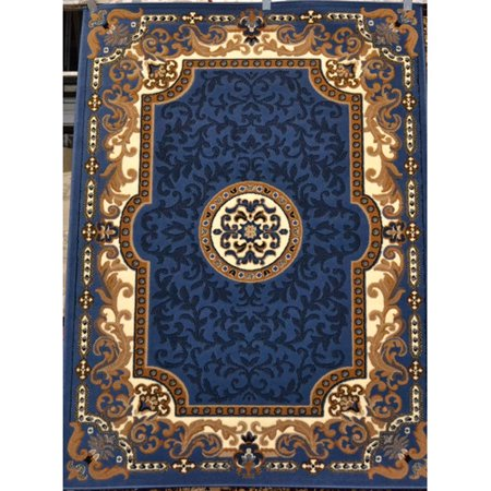 Persian Rugs 2034 Blue Oriental Area Rug 8x10