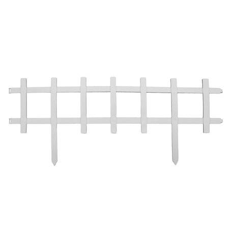 Black Fencing - Cape Cod Style Decorative Fencing - White Border Edging - 13