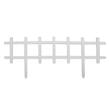 Cape Cod Style Decorative Fencing - White Border Edging - 13