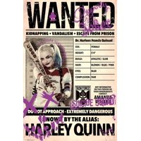 Suicide Squad- Harley Wanted Poster - 24x36