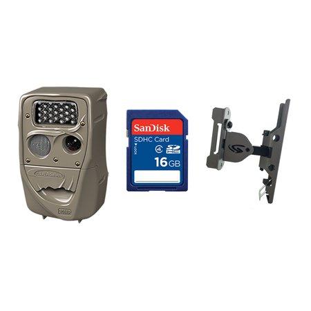 Cuddeback 20MP Black Flash Trail Camera + 16GB SD Card + Game Camera Mount Game Camera Tree Mount