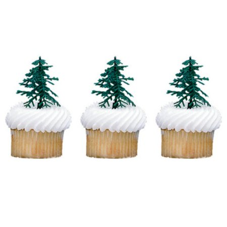 Evergreen Trees Cupcake & Cake Picks - 12 Count