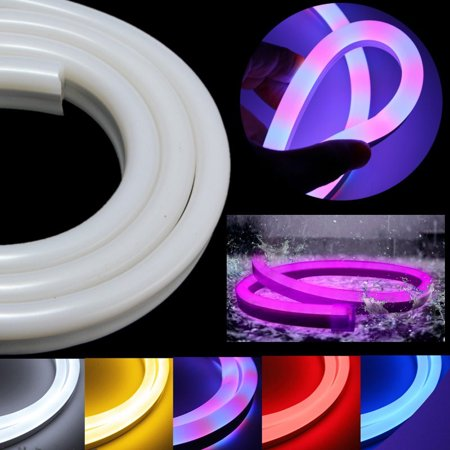 5M 600LED Flexible Neon Rope Strip Light Soft Rope Glow Wire String Strip Light 18W Xmas Christmas Outdoor Dance Party Wedding Home Decor Waterproof IP67 110V 2835 SMD](Neon Rope Light)