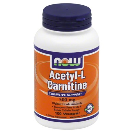 Now Foods Now  Acetyl-L Carnitine, 100 ea Acetyl L-carnitine 500 Vitamins