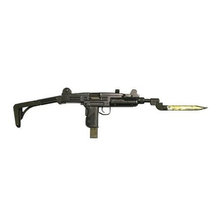 Uzi 9mm submachine gun with attached bayonet Poster Print - Uzi 9mm