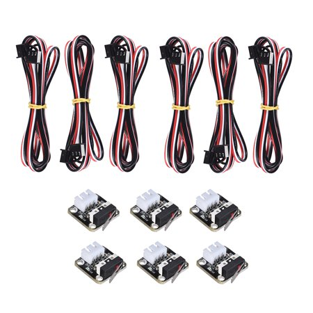 Accessory Six Pack (Limit Switches Plug Control CR-10 Accessories ENDSTOP Motion Collision Switch 6 Pack for RAMPS 1.4 RepRap 3D Printer CR-10 CR-10S CR-S4 CR-S )