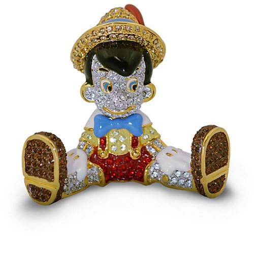 Disney Parks Limited Edition Pinocchio Jeweled Figurine b...