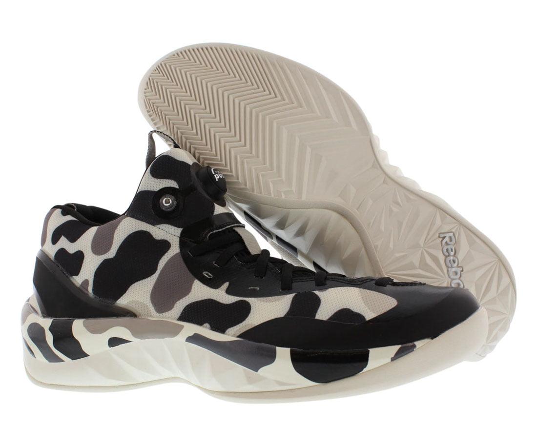Reebok - Reebok Men s Zpump Rise Stone   Chalk Black Ankle-High Basketball  Shoe - 12M - Walmart.com 4bd00465c