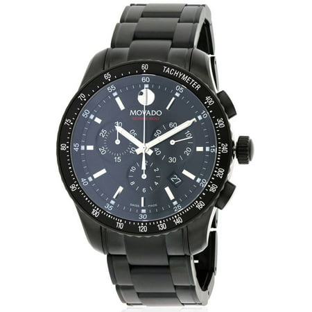 Movado Series 800 Black PVD Chronograph Men's Watch, 2600107