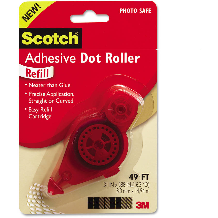 Scotch Adhesive Dot Refill, .3 in x 49ft